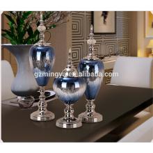 Новый современный Европейский Стиль Оптовые продажи сверкающих синий стекло домашнее украшение