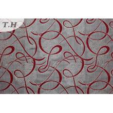 Tissu de mobilier en polyester rouge Jacquard Philippines (fth31942)