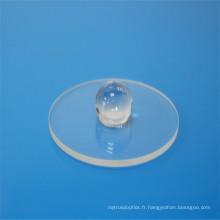 Lentille de boule de composants de saphir / fenêtres / fabrication sphérique d'objectif