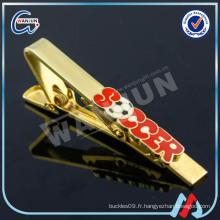 Pinces à cravates uniques plaqué or (cl-58)