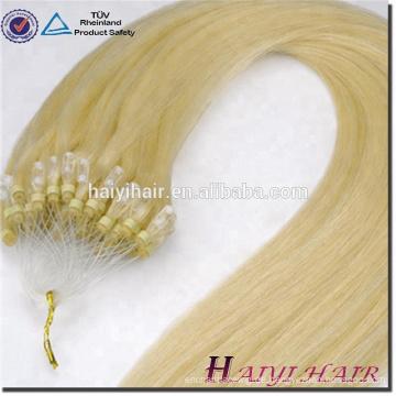 Alibaba Express Brasilianische Menschenhaar Gezogene 11A Klasse 1g / strang Micro Ring Haarverlängerung