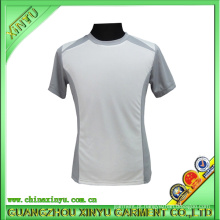 Poliéster Dry Fit T Shirts com axilas cinza