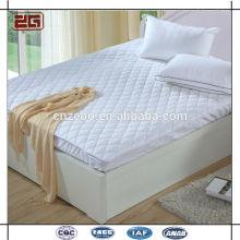 Alta qualidade natural lavado 100% fibra de enchimento acolchoado protetor de colchão impermeável