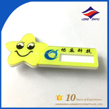 Smile star funny name badge plastic material