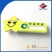 Smile star emblema de nome engraçado material plástico