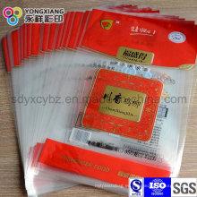 Embalaje de plástico de sellado de 3 lados Bolsa de alimentos