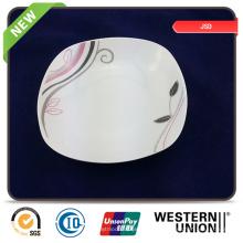 Bulking Empaquetado Personalizar Plato de cerámica promocional Plato Juego Tazón