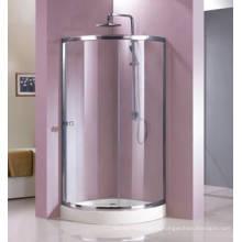 Boîtier de douche en verre trempé de forme quadrant avec cadre (HR229C)