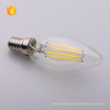 E26 E27 B22 E12 E14 DIMMABLE Bombilla de filamento de LED Edison Bombilla C35 LED de luz de vela 2W 4W 6W 120V 230V