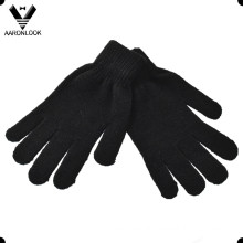 Promotional Solid Color Acrylic Knitted Magic Glove