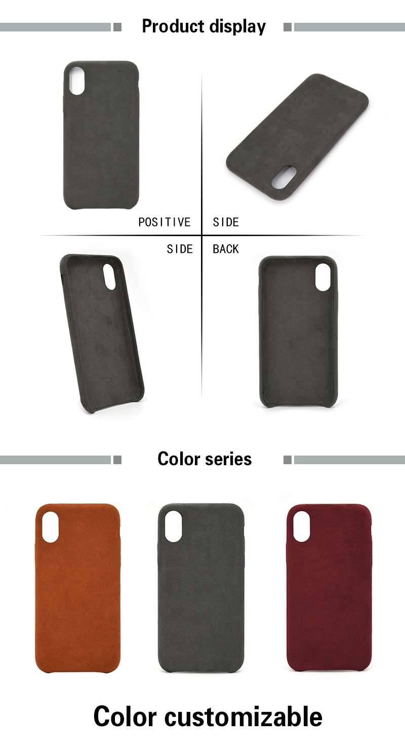 Embossed Logo Leather Phone Case for Iphone X