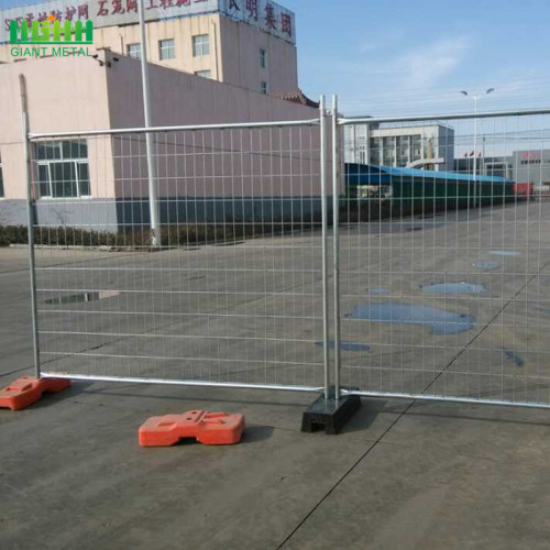 Galvanized Temporary fencing for security