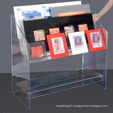 Acrylic Display Stand/Acrylic Display Shelf for Book, Magazine (MDR-046)
