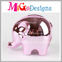 Decorate and Personalise Elephant Ceramic Money Bank for Children