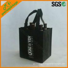 sac de transporteur de vin non tissé de haute qualité réutilisable en gros 6 bouteilles
