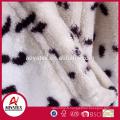 Women best selling cow print coral fleece microfiber bathrobe
