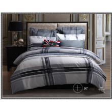 Venda quente 100% algodão moda impressão grade conjuntos de cama