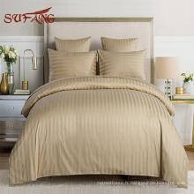 Hôtel 100% Coton Confortable 1800TC Draps Literie de Luxe Doux Set