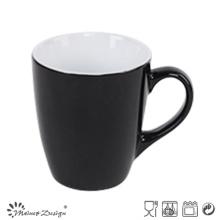 Taza de leche de cerámica de 12oz que satina al por mayor