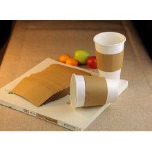 Коричневый цвет бумажный конверт для 8 унций кофе Одиночная чашка бумаги стены