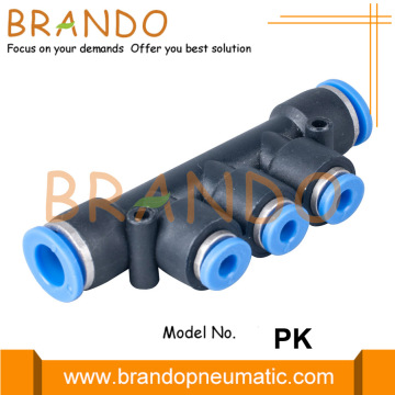 "1/8 ""1/4"" PK Union Triple Pneumatic Hose Fittings"