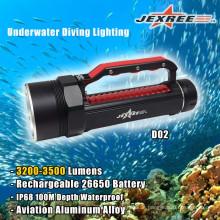 Unterwasser High Brightness 3500lm LED Tauchlampe