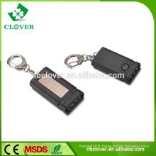 ABS material mini solar 3 led flashlight keychain