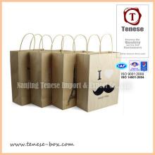 New Design Kraft Shopping Hand Paper Bag