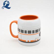 Kundenspezifische trinkende Teemilchbecher-Kaffeekeramik mit Griff
