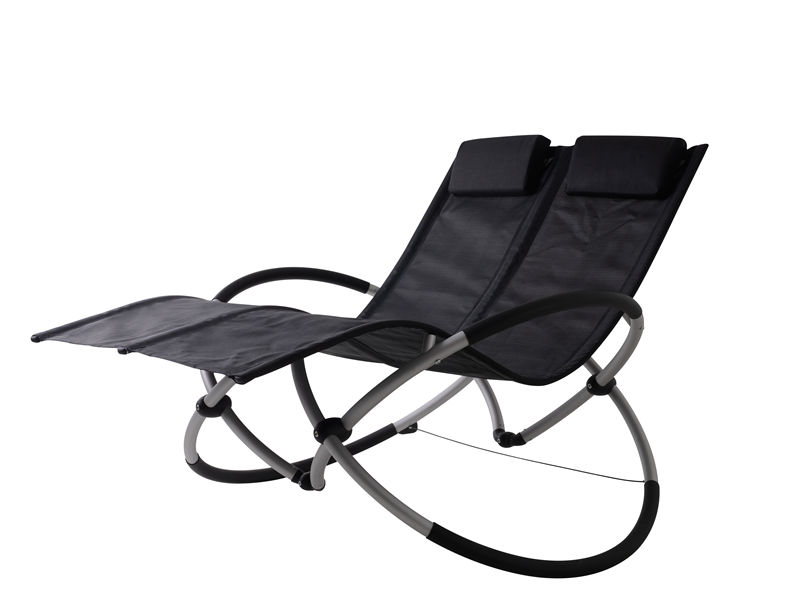 foldable alu.double seat rocking chair S1102