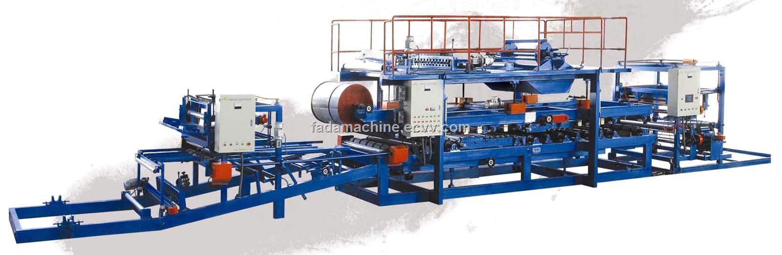 Fireproof Rock Wool Sandwich Panel Making Machine Line