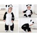 Bebé suave mameluco Animal Onesie traje traje de dibujos animados Homewear ropa de dormir, franela, lindo panda, linda toalla con capucha