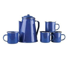 Emaille Kochgeschirr Wasserkocher, Küchenutensilien, Emaille Teekanne, Camping Enamel Wasserkocher