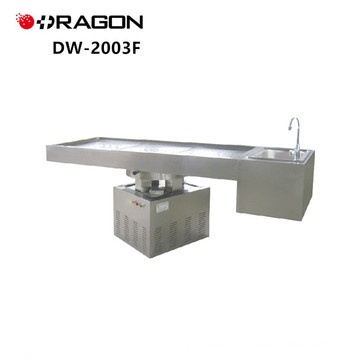 DW-2003F Stainless Steel Lifting Rotation Powerful Forensic Dissecting Table