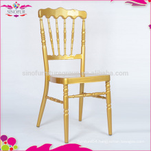 Factory outlets, gold metal napoleon chair