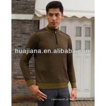 jaqueta de camisola masculina de cashmere anti-pilling