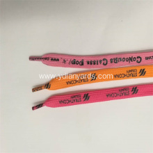 Silk Screen Printed Shoelaces With Plastic Tip