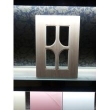 Style européen Membrane PVC MDF placard livre cuisine armoire porte seulement