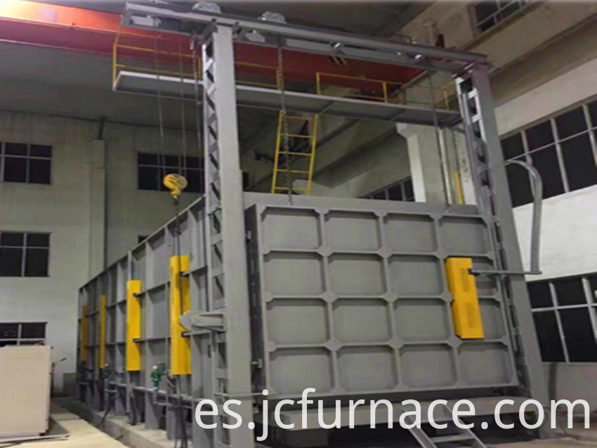 Large car type annealing furnace