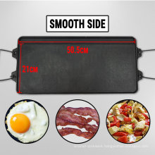 Cast Iron Reversible Griddle BBQ Grill Plate