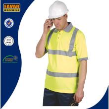 Hi-Vis amarillo polo de seguridad Micromesh