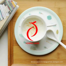 Modern Design High Quality Hand Painted Custom Cock Pattern Ceramic Tea Cup with Infuser
