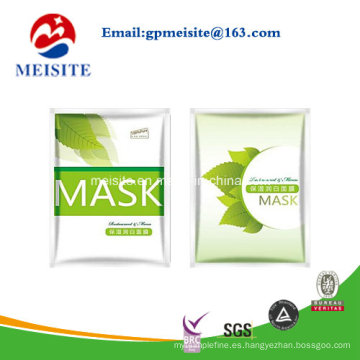 Bolso de la hoja para la máscara facial Paquete Embalaje Bolso / bolsa