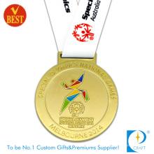 Fournir la médaille courante de placage à l'or de jeux olympiques de Melbourne faits sur commande de la Chine