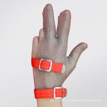 Luva protetora anti-corte de malha de dedo de 3 dedos-2380