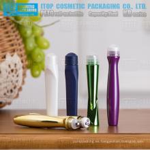 Delicado y lindo alta calidad OEM disponible amplia aplicación cosmética plástica roll-on botella de esencia de