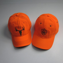 Fluoreszierende Orange Stickerei Baseball Cap Großhandel