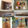 52cc 1700w mini perfurador do furo do borne Máquina de perfuração da broca do furo de terra Máquina de perfuração portátil do solo da gasolina