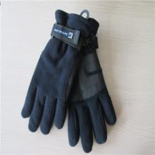 Мужские флисовые перчатки с ПУ на ладони
