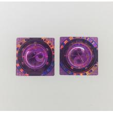 Etiqueta de holograma 3d impermeable material de una sola vez